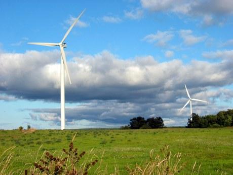 布鲁斯半岛的风力发电站