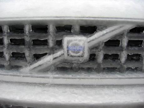 带冰麟的车