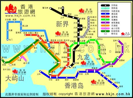 香港地铁路线图